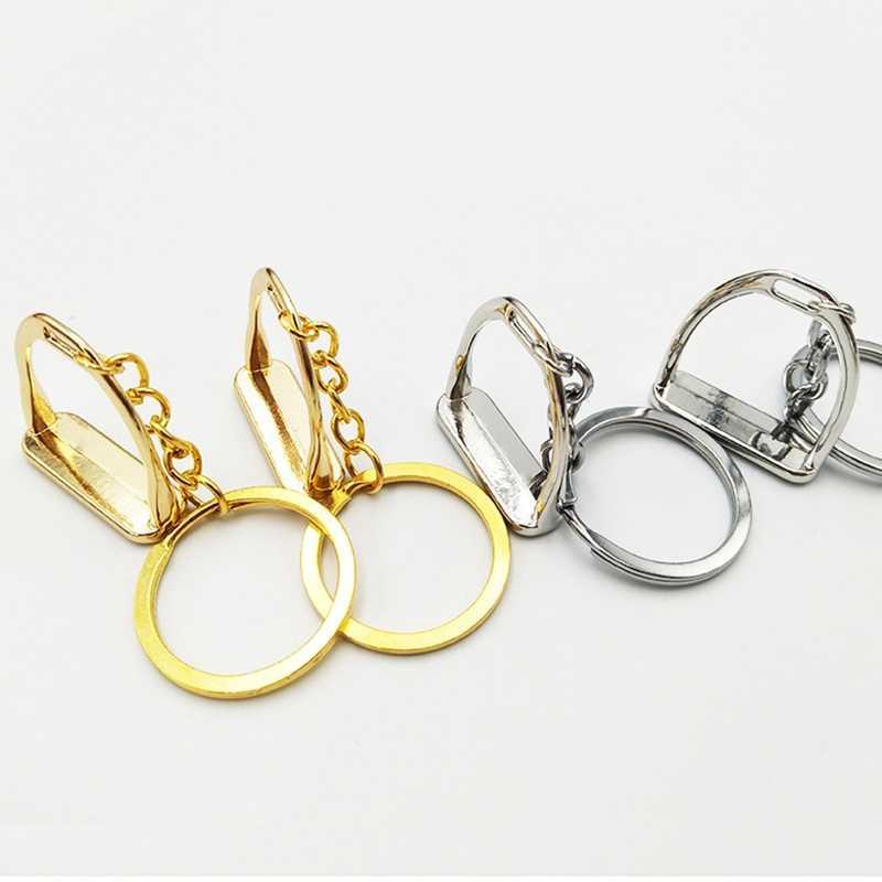 Eenvoudige Elegante Ontwerp Westerse Sleutelhanger Sleutelhanger Hanger Tool voor Mannen Vrouwen Bag Decoratie Paardensport Equine Paard Thema
