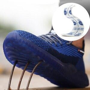 Image 4 - Chaussures de sécurité à bout en acier, chaussures Ryder indestructibles, pour hommes et femmes, bottes de sécurité à Air, baskets de travail aérées et anti perforation