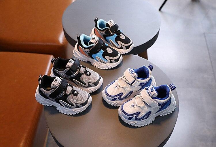 Sapatos casuais infantis com salto alto, tênis