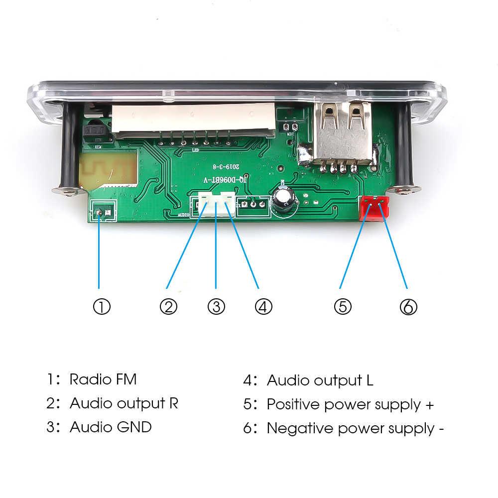 DC 12V Auto Auto Bluetooth MP3 WMA FM AUX Decoder Board Plaat Audio Module TF SD Card USB Radio auto MP3 Luidspreker Accessoires