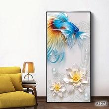 Современная абстрактная картина маслом Печать на холсте цветок
