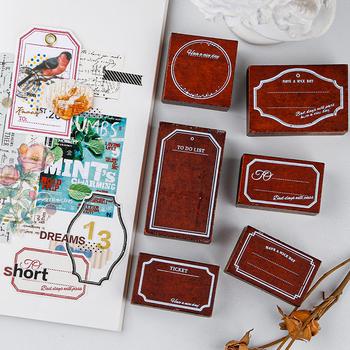 Yoofun Vintage graniczny znaczek obrzeża drewniane i gumowe stemple do scrapbookingu Bullet Journaling kreatywny standardowy znaczek DIY ramki tanie i dobre opinie CN (pochodzenie) 9574