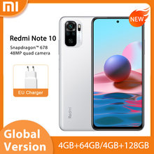 "Globale Version Xiaomi Redmi Hinweis 10 Smartphone Snapdragon 678 6.43 ""AMOLED Display 5000mAh 33W Schnelle Lade 48MP quad Kamera"
