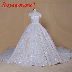 Image 4 - 2020 new desgin luxurious full beading top Wedding Dresses dubai bling bling bride dress custom made wedding gowng