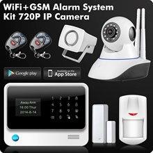 G90B 2.4G WiFi GSM GPRS SMS Senza Fili di Sicurezza Domestica Sistema di Allarme IOS Android APP Remote di Controllo del Sensore del Rivelatore