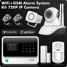 G90B WiFi 2.4G GSM GPRS SMS Wireless Home Security Sistema de Alarme IOS Android APP Controle Remoto Detector de Sensor