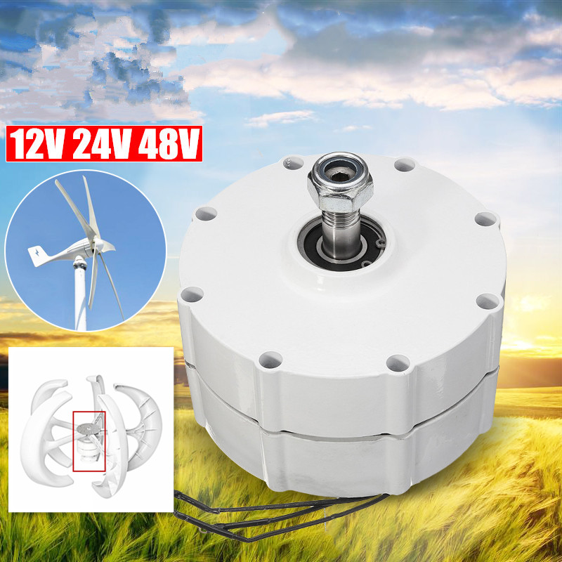 12 V/24 V/48 V bricolage générateur de vent moteur haute efficacité faible rotation vitesse alternateur à aimant Permanent 3 phases courant PMSG