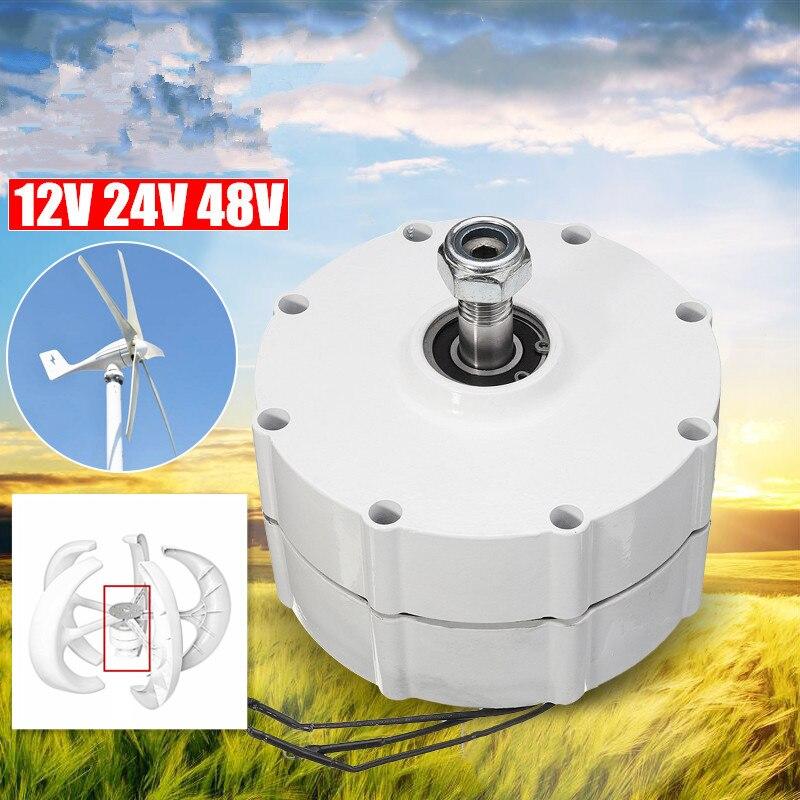 12V/24V/48V DIY Wind Generator Motor High efficiency Low Rotate Speed Permanent Magnet Alternator 3 Phase Current PMSG