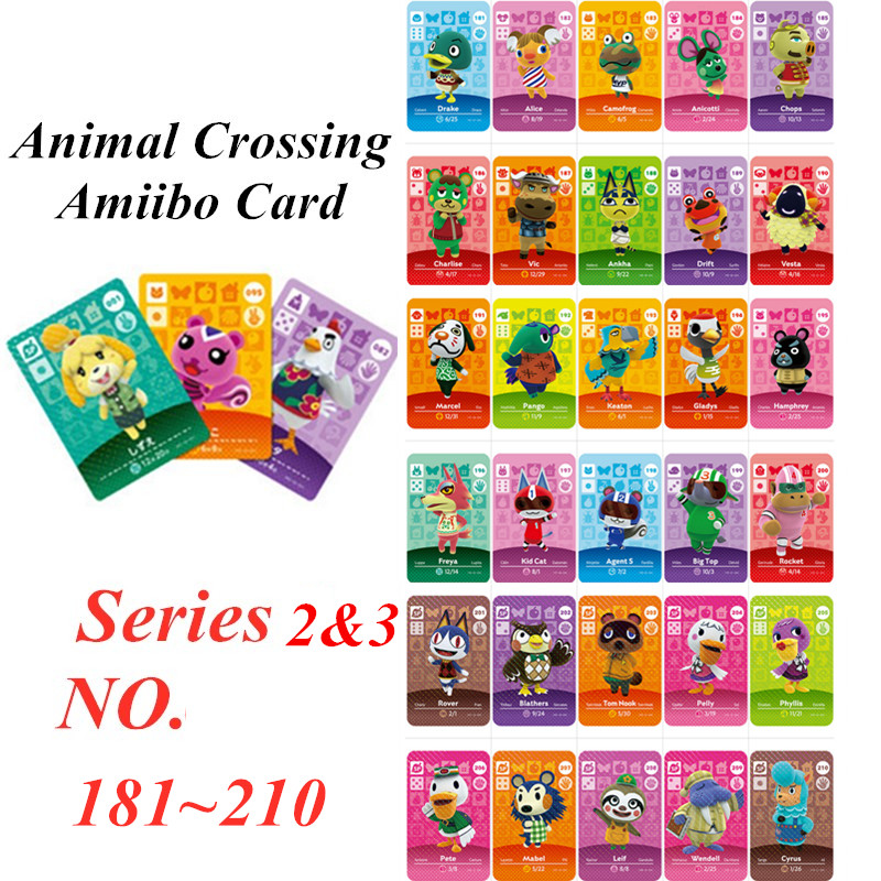 Animal Crossing Card Amiibo NFC Card For Nintendo Switch NS Games Series 2 3  (181 To 210)