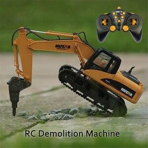 HUINA 1560 1/14 16CH RC сломанный сверлильный грузовик, игрушки, инженерное строительство, автомобиль со звуковым светильник, поворот 680 de RTR