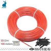 A basso costo multiuso 12K 33ohm cavo di riscaldamento in fibra di carbonio di riscaldamento a pavimento filo di 100m nuovo riscaldamento a raggi infrarossi di alta qualità cavo