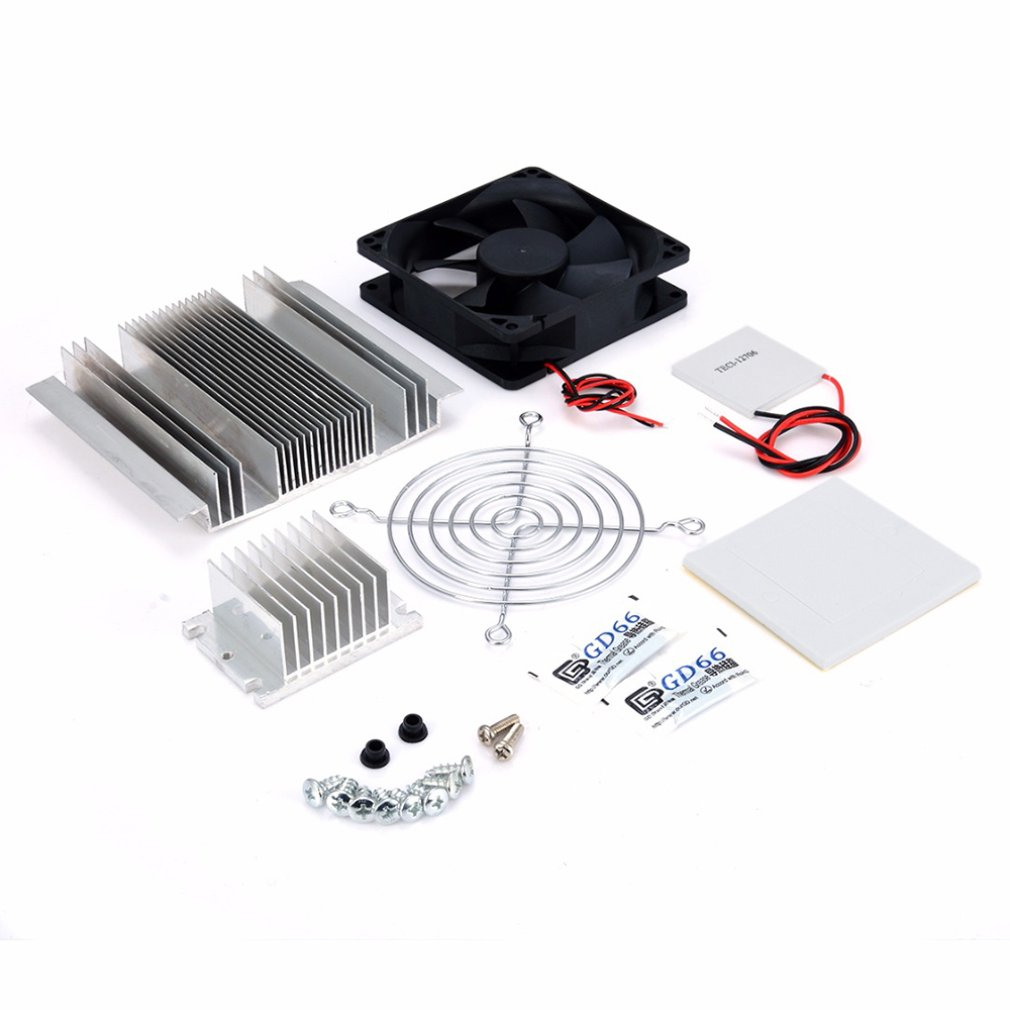 Exquisite 1pc DC 12V Metal Peltier Semiconductor Cooler DIY Kit For Refrigeration Air Conditioner System