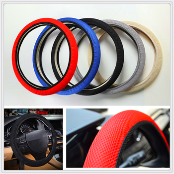 car auto Steering wheel Cover Anti-Slip Breathable Auto for Mercedes Benz W203 W210 W211 W204 A C E S CLS CLK CLA ML SLK Smart image