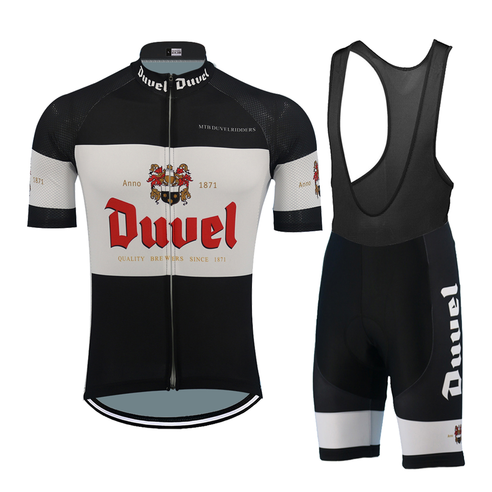 Classic Black Jersey Set Duvel Ropa Cycling Man Suit Mtb Cycling Clothing Breathable Quick-drying Ciclismo Bike Clothing Beer