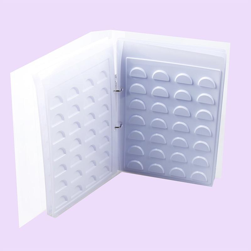 cílios cartão de exibição sem cílios postiços