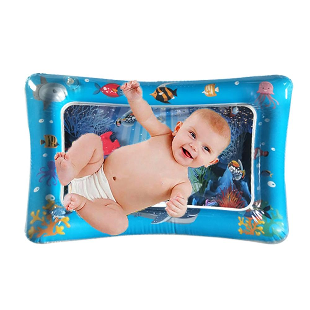 Cartoon Animal Baby Kids Water Play Mat Inflatable Infants Tummy Time Playmat New