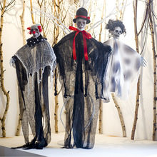 Halloween Cloth Skull Large Hanging Ghost Decoration Party Background Wall  Props