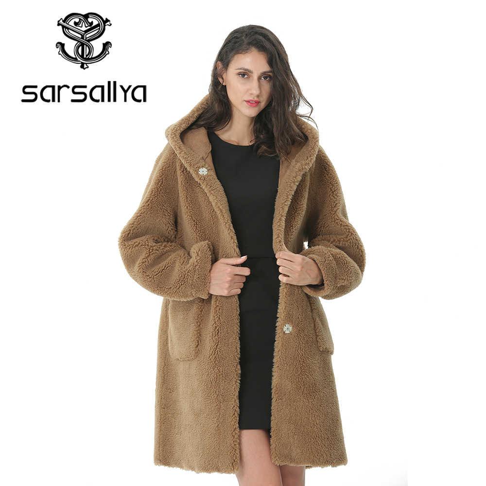 Frauen Lange Mäntel Mit Kapuze Weibliche Winter Warm Woolen Mantel Damen Jacken Wolle Pelz Dünne Beiläufige Outwear Weiß Rot Grün Braun blau