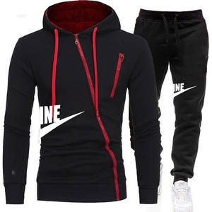 Men Hoodie Outwear Tracksuits-Sets Sports-Suits Zipper Casual Brand