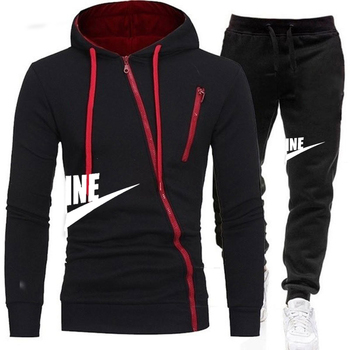 2020Men's Sets Brand Sportswear Tracksuits Sets Men's Zipper  Sporting Hoodies+Pants Sets Casual Outwear Sports Suits Men Hoodie