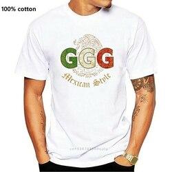 Novo estilo mexicano ggg masculino preto tamanho s a 2xl eua tamanho s a 3xl camiseta en1