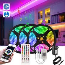 Luz de tira led bluetooth led ruban tv backlight led controle remoto luzes néon luminosas quarto festa de férias luzes decorativas