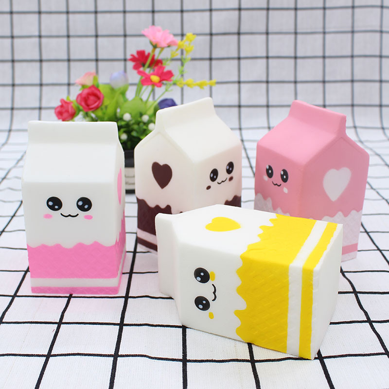 Cute Milk Carton Squishy Slow Rising Soft Squeeze Relieve Stress Funny Toy For Kid Party Christmas Children Gift