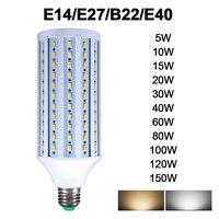 Bombilla LED de mazorca de maíz, lámpara de ahorro energético para decoración del hogar, E27, B22, E40, E14, 5730, 2835SMD, 5W-150W, AC85-265V