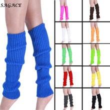 Sagace meias altas mulheres cor pura boot cuffs mais quente lã malha perna estoque inverno algodão longo socking sobre o joelho perna mais quente meninas