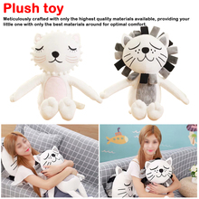 New born baby Sleeping toy 40cm Cute Cat & Lion Plush toys Baby Kids Animal Comfortable Stuffed Doll Christmas Gifts