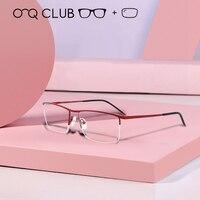 Alloy Optical Glasses Frame Men Ultralight Square Myopia Prescription Eyeglasses 2019 Male Metal Full Eyewear