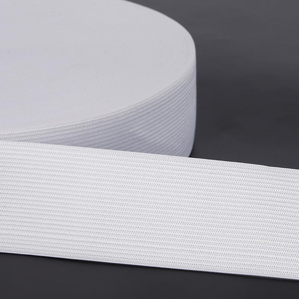 5yards 0,6-5cm Weiß Flache Elastische Bands Spandex Band Gummiband Nylon Stretch Schnur für DIY Handwerk Hosen nähen Zubehör