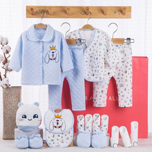 0-3 Months Newborn Baby Clothing Suit for Boys Girls Clothes Sets Outfits Animal Dog Pillow Blanket 18pcs/set