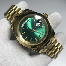 18k Gold Men Geneva Watch green Dial Luxury brand Automatic Daydate Fashion Mens Reloj Watches AAA