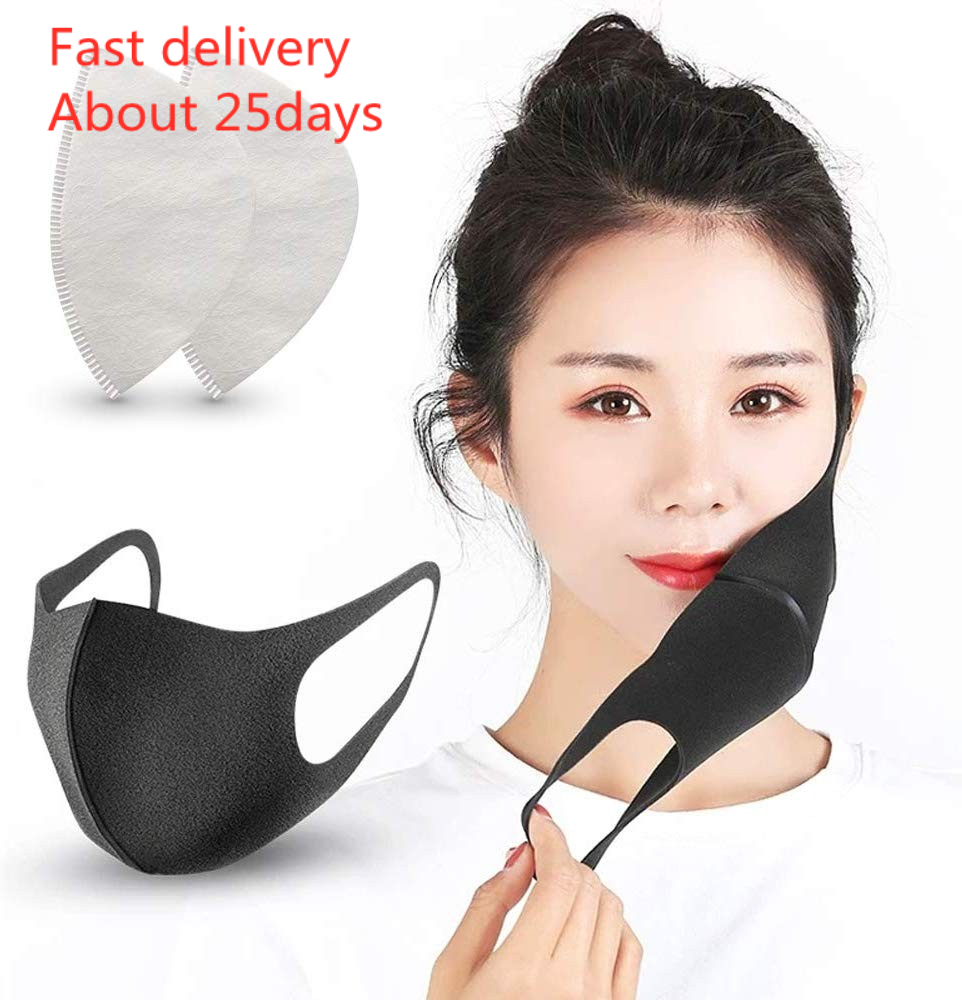 Face Mask 마스크 5 Pack Face Masks 10 Replacement Reusable Mask Filter PM2.5 Air Filtration Mask Fast Delivery
