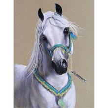DIY 5D Diamond Painting Horse Full Round/Square Drill Diamond Embroidery Cross Stitch Animals Rhinestone Mosaic Sale Handicrafts