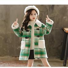 Новинка г.; cuhk; Детский Стиль; иностранный стиль; плащ в клетку; зимнее пальто для девочек