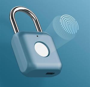 Image 1 - Умный дверной замок Youpin Kitty со сканером отпечатков пальцев, USB зарядка, без ключа, защита от кражи, навесной замок, Дорожный Чехол, ящик, замок безопасности