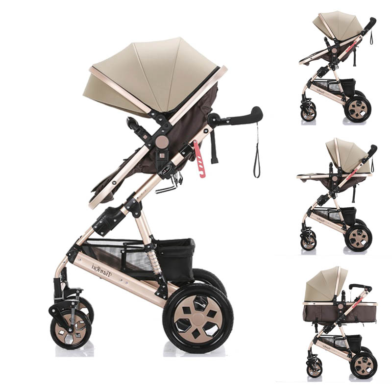 Baby stroller  High landscape Tianrui  Belecoo Wisesonle cart Portable  Baby carriage 3 in 1 Baby trolley lightweight
