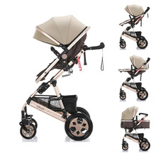 Baby stroller  High landscape Tianrui  Belecoo Wisesonle cart Portable  Baby carriage 3 in 1 Baby trolley lightweight european high profile baby carriage 2 in 1 dual use baby stroller luxury umbrella cart