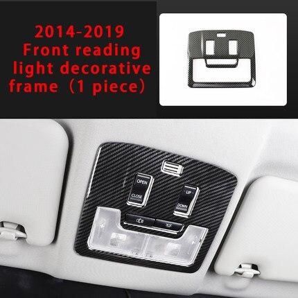 Pour Toyota RAV4 2014-2018 feu de lecture avant en fibre de carbone cadre décoratif moulure garniture 1pc