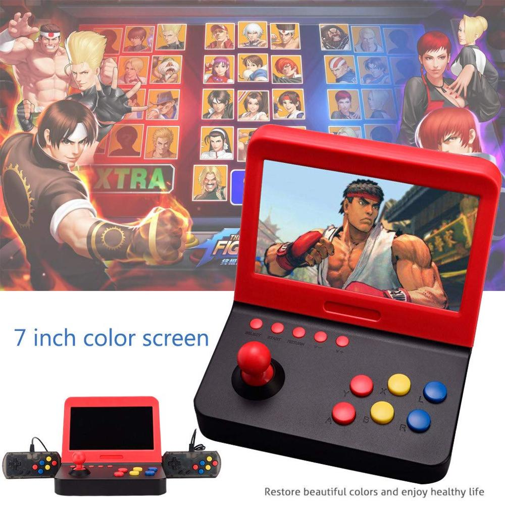 <font><b>AIWO</b></font> <font><b>G1000</b></font> 7 inch Arcade Game DDR3 256MB Retro Machines for with 3000 Classic Game handle image