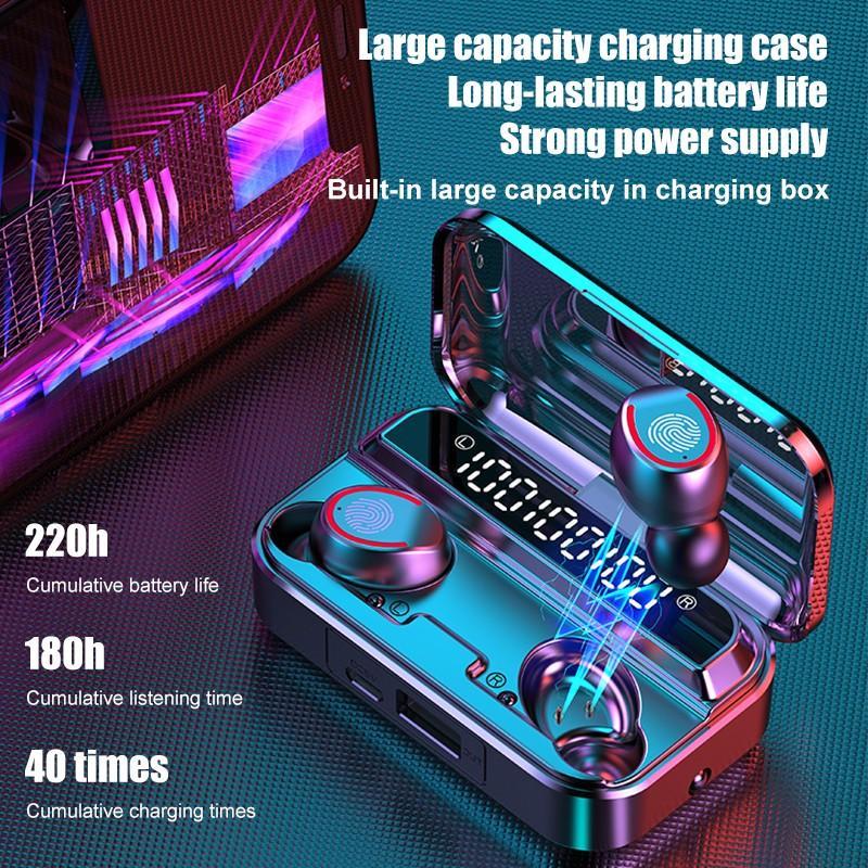 Наушники-вкладыши TWS Bluetooth 5,1 наушники Беспроводной наушники 9D стерео спортивные гарнитуры С микрофоном СНД уф стерилизация Функция