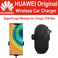 HUAWEI SuperCharge Wireless Car Charger 27W CP39S Qi Standard TÜV Certified Mate 30 Pro Mate 20 Pro RS For iPhone Samsung Xiaomi