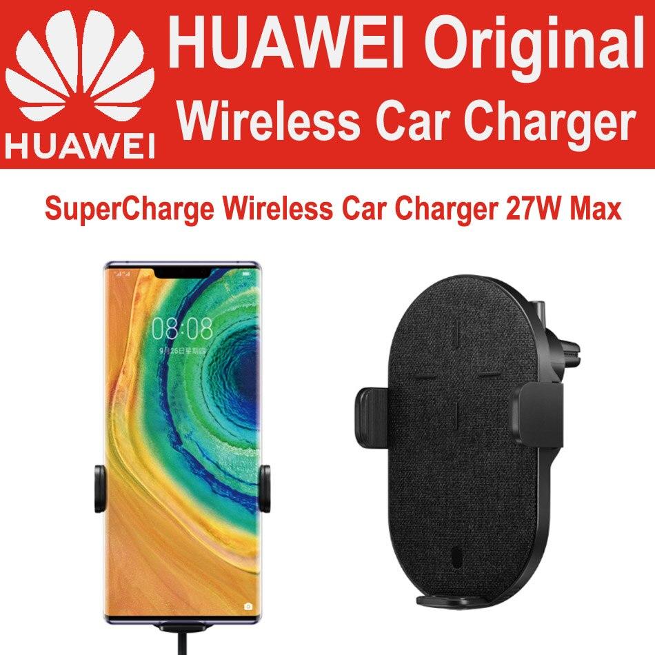 HUAWEI Turbinar o TÜV Certificada 27W CP39S Qi Padrão Sem Fio Carregador de Carro Companheiro 30 Pro Companheiro 20 Pro RS Para iPhone Samsung Xiaomi