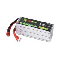 A+ Lion 22.2V 6S 5200mah 30C Lipo Battery Power For Trex RC Helicopter Exquisitely Designed Durable Gorgeous