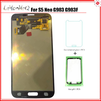 100% Test AMOLED LCD For Samsung Galaxy S5 NEO G903 G903F LCD Display Touch Screen Digitizer Assembly For Samsung S5 Neo G903 image