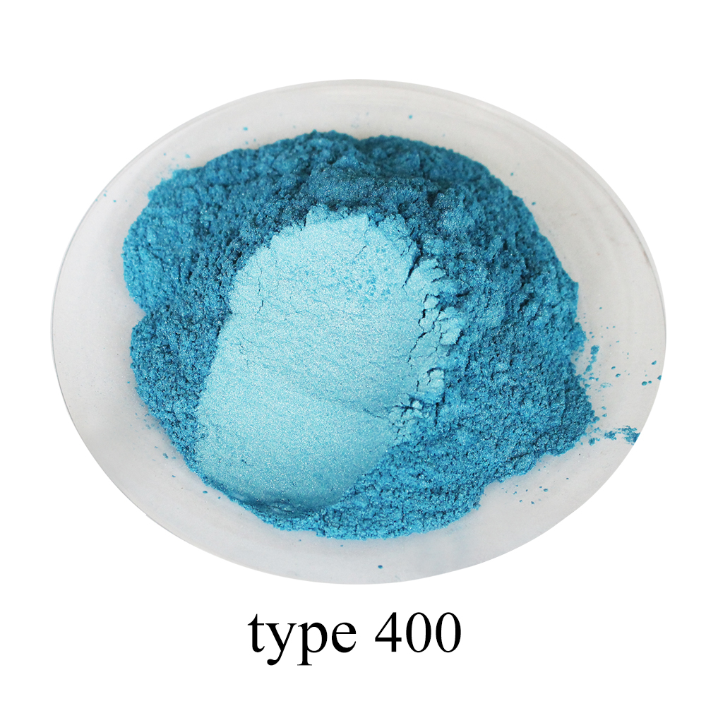 Type 400 Pigment Pearl Powder Healthy Natural Mineral Mica Dust DIY Dye Colorant Acrylic Paint For Soap Cars Art Crafts 50g
