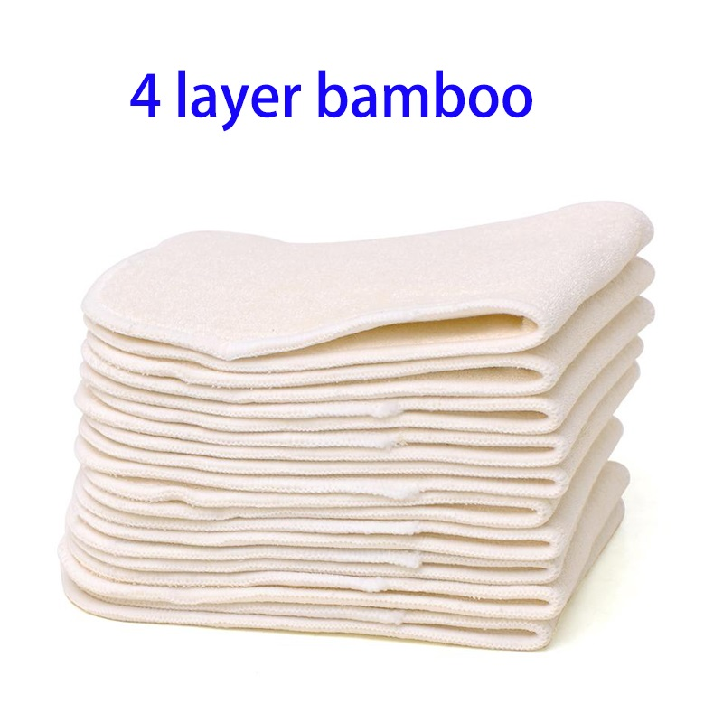 10Pcs Reusable Washable Inserts  Microfibre Inserts  Bamboo Charcoal Inserts  Natural Bamboo Insets
