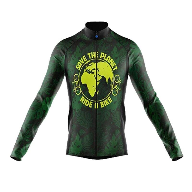 2020 sptgrvo roupa para andar de bicicleta outono cycilng jérsei bicicletas terra manga longa camisas mtb montanha verde bicicleta topos